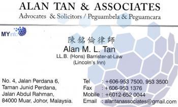 ALAN TAN & ASSOCIATES